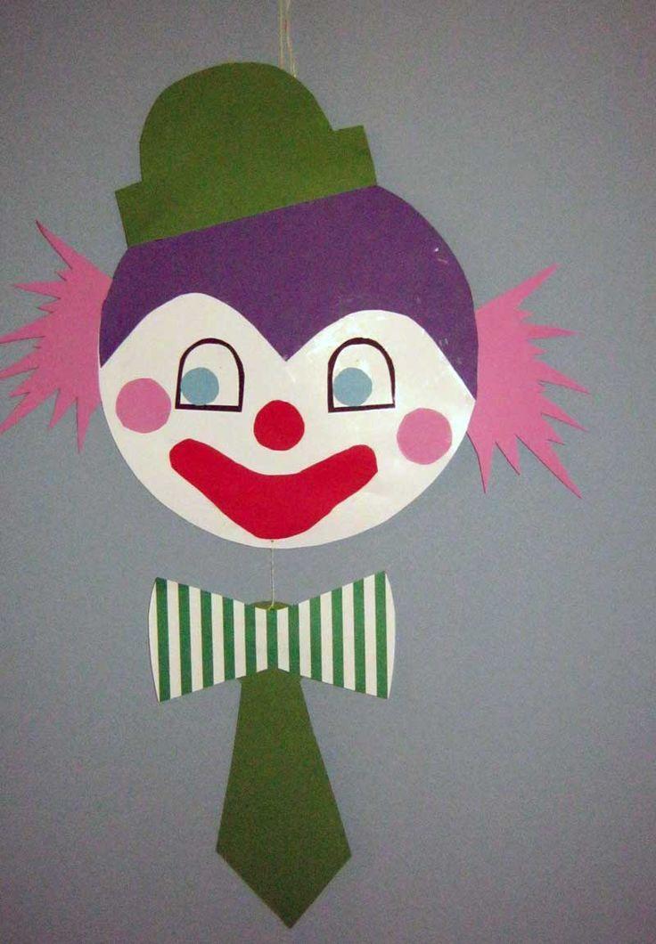 clown basteln kinder vorlage