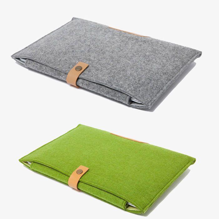 "11""13"" 15"" Woolen Felt Envelope Laptop Bag Cover Case Sleeve For MacBook Air Pro #New"