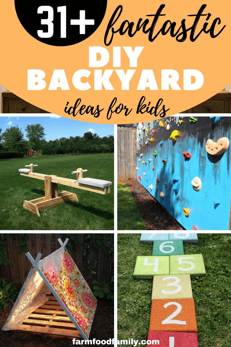 31 Fantastic Diy Backyard Ideas For Kids This Summer Kids Yard