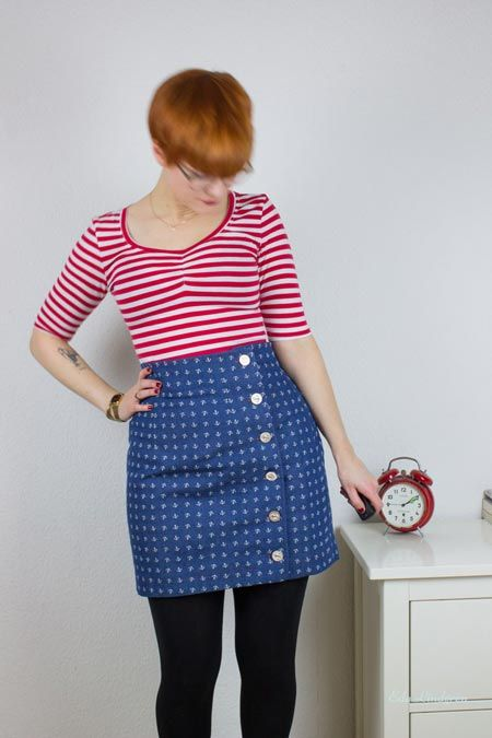 Maritimes Shirt - Agnes Pattern - Tilly and the Buttons - Sewing Shirts