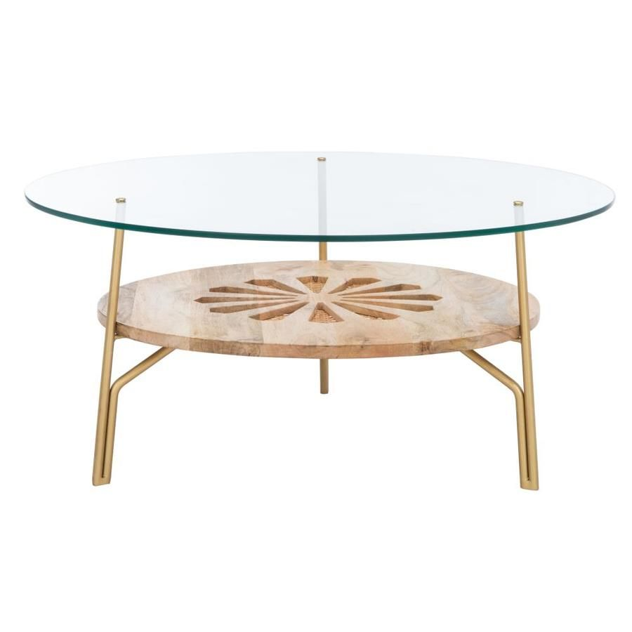 Safavieh Flora Glass Glass Coffee Table Lowes Com Coffee Table Round Coffee Table Round Glass Coffee Table [ 900 x 900 Pixel ]
