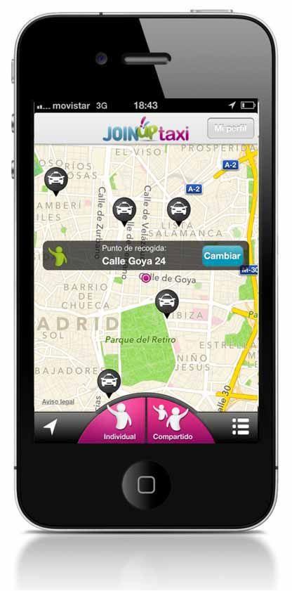JoinUp Taxi fomenta en Madrid las carreras compartidas