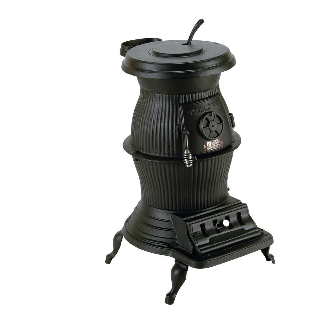 Vogelzang Railroad 1500 Sq. Ft. Coal / Wood-Burning Pot Belly - Wood Burning Stove Home Depot WB Designs