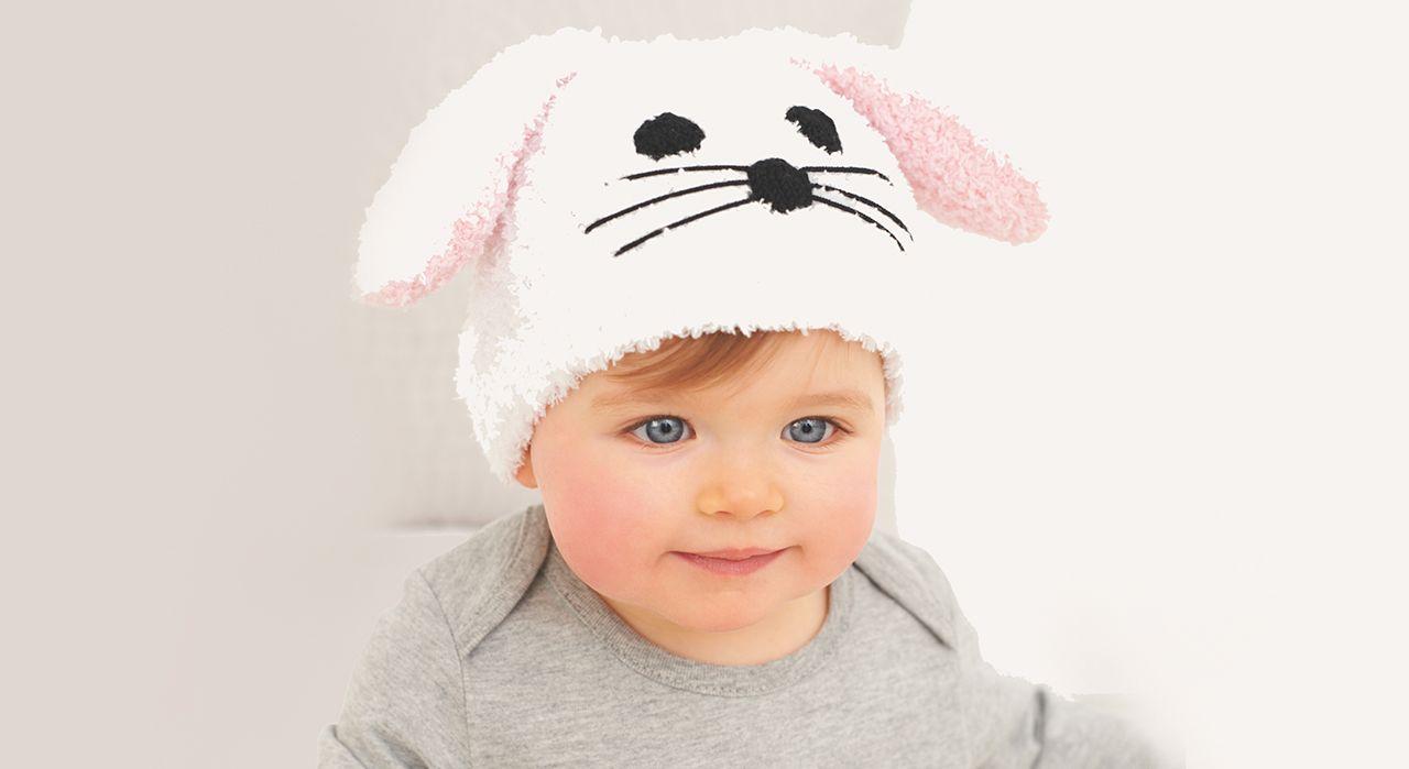 Pour que bébé reste bien au chaud cet hiver, tricotez lui un bonnet petit  lapin 97d18509765