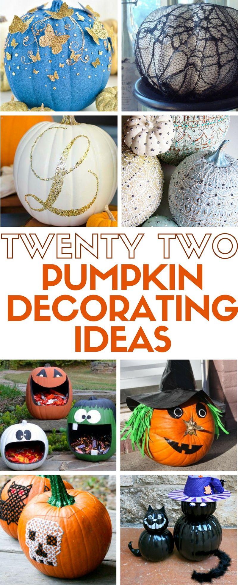 22 Pumpkin Decorating Ideas The Crafty