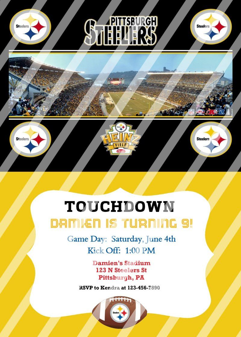 Pittsburgh steelers personalized party invitation 31 digital file pittsburgh steelers personalized party invitation 31 digital file you print filmwisefo Gallery