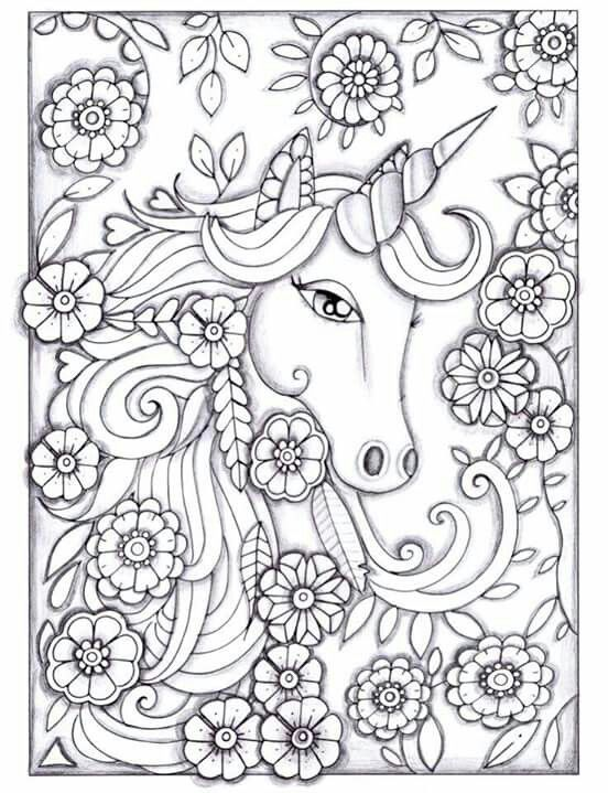beautiful unicorn coloring pages - photo#23