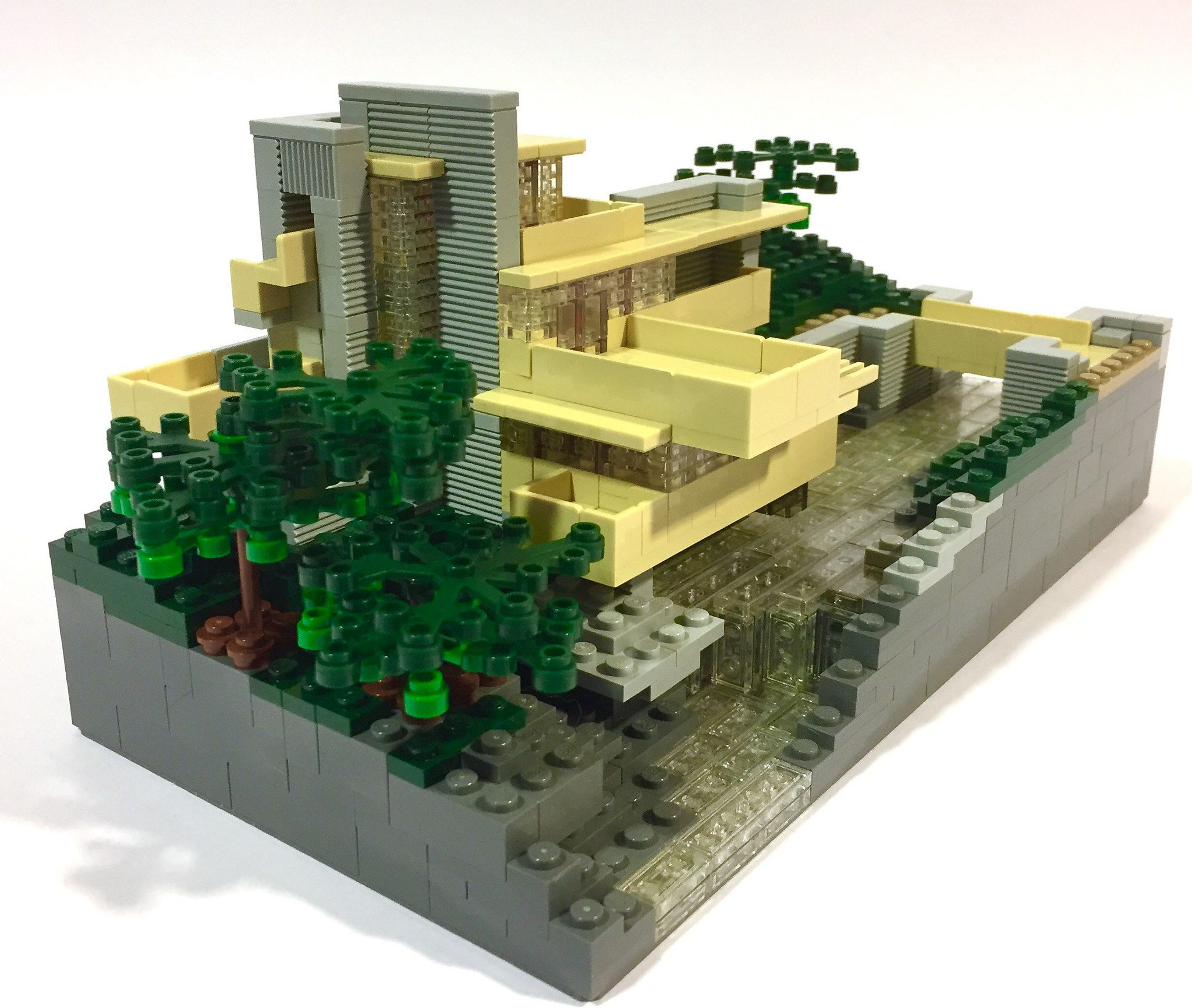 Falling Water 20 Archbrick Lego Microfig Scale Pinterest