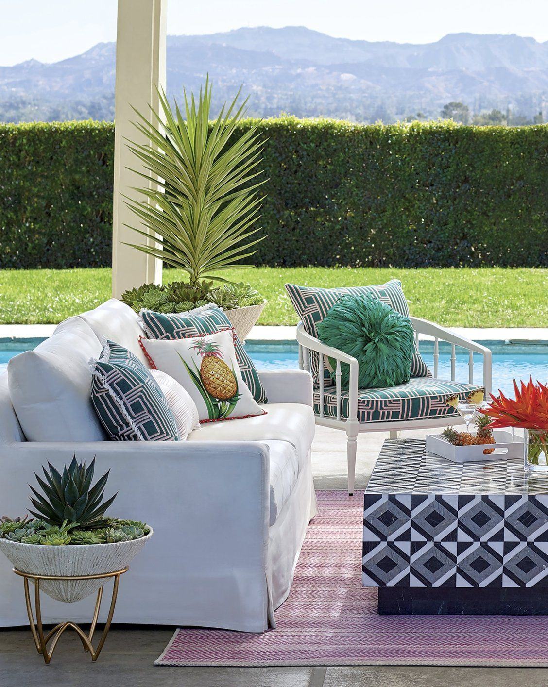Bring The Comfort Of Your Living Room Outdoors. Inspired By Furnishings  Found At High