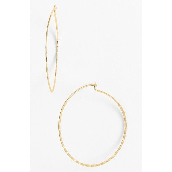 Nordstrom Whisper Hammered Hoop Earrings 21 Liked On Polyvore Featuring
