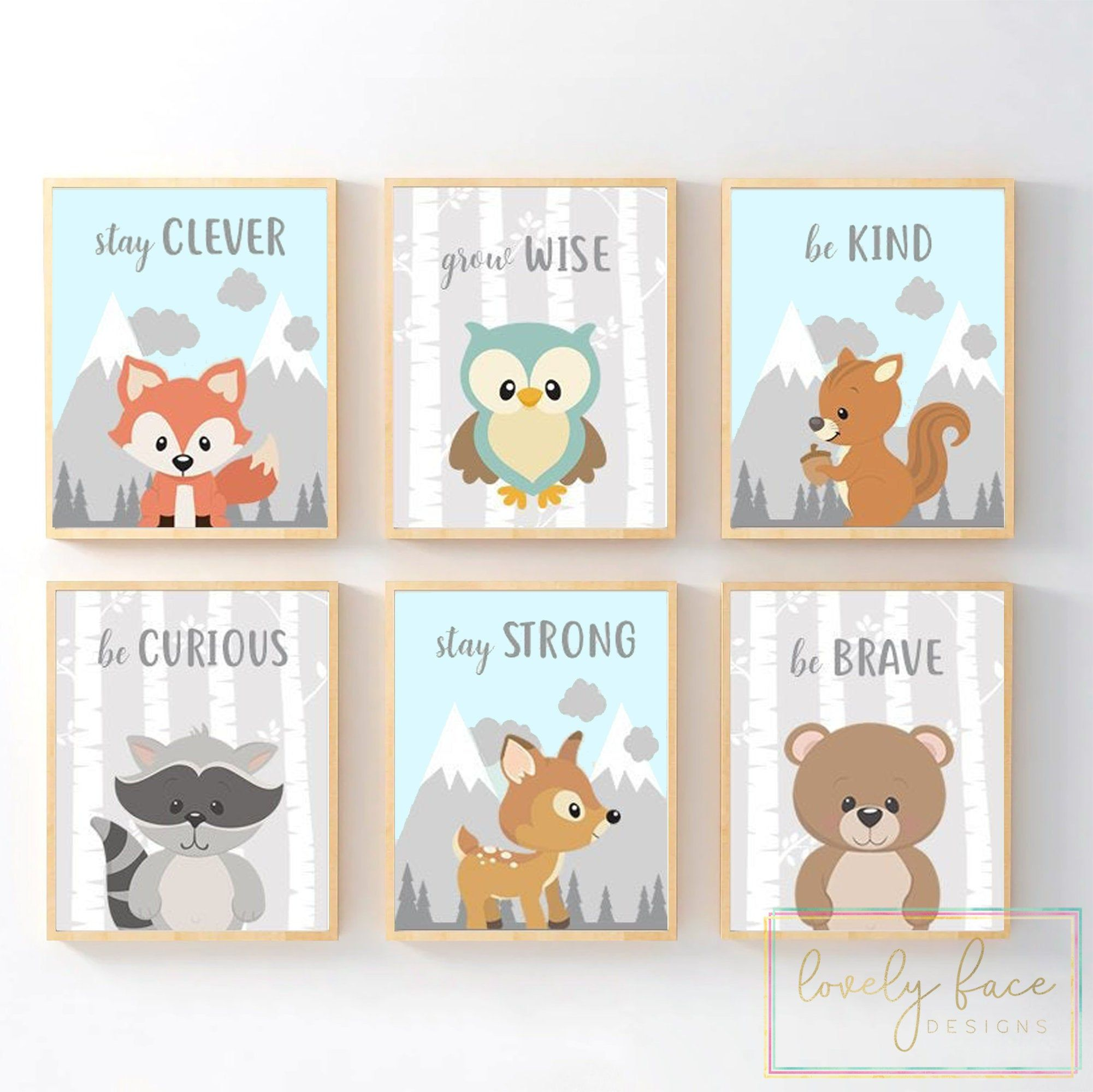 Woodland Animals Quotes Nursery Decor