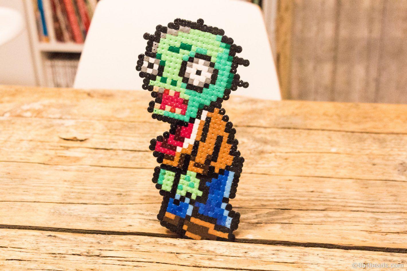 Plants vs. Zombies - Zombie Minion Hama Bead Perler - 8bitbeads.com