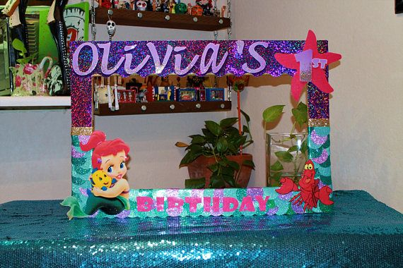 The Little Mermaid Photo Booth Frame Personilized Photo Alex