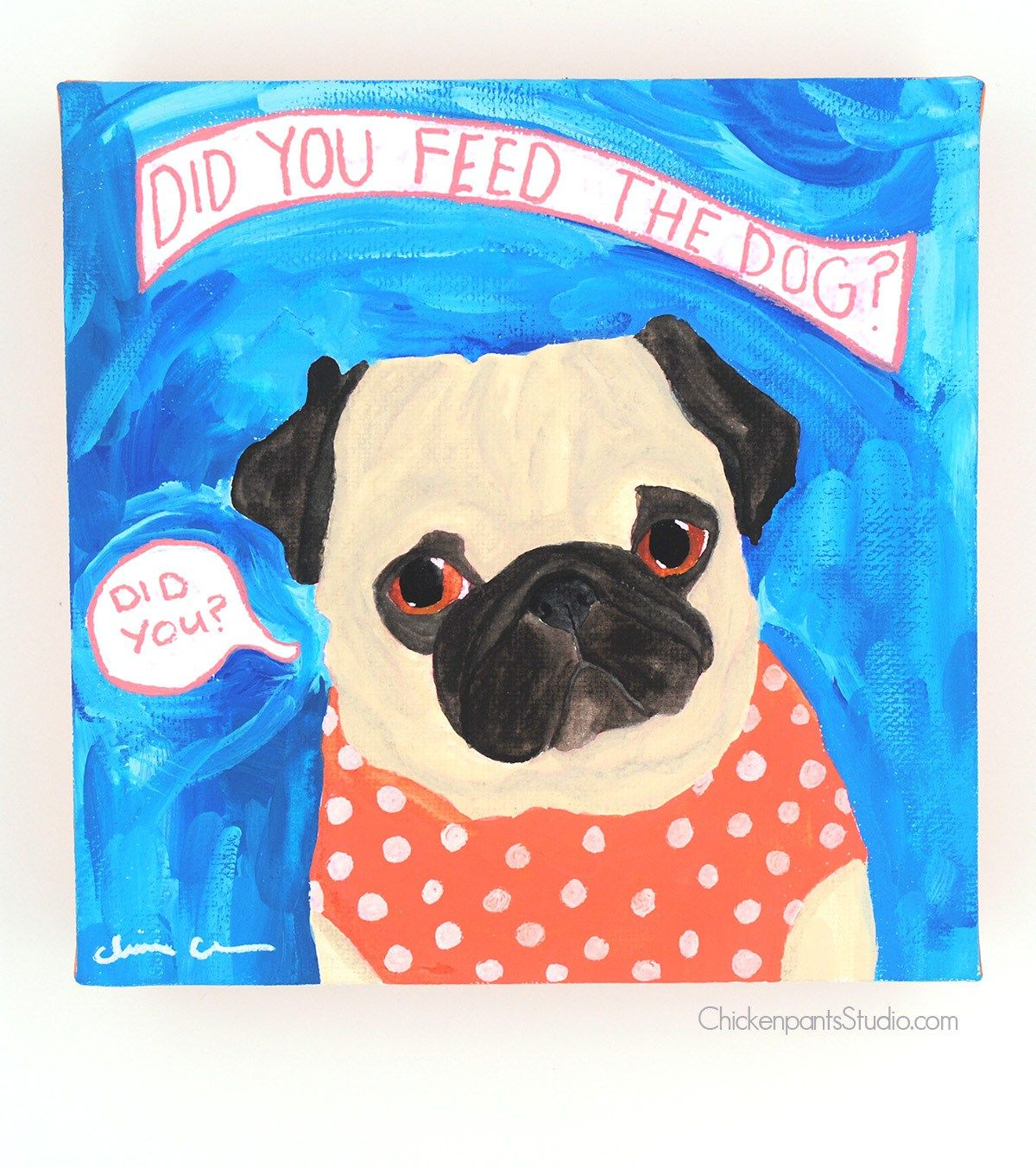 Daily Pug Painting Project Week 39 And A Boston Terrier Too