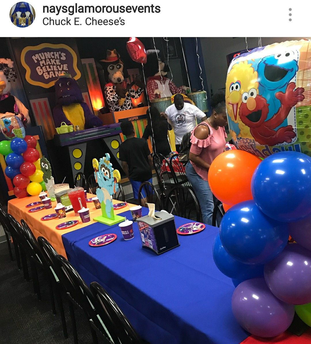 Sesame Street Birthday Party Table Setting And Decor With Images