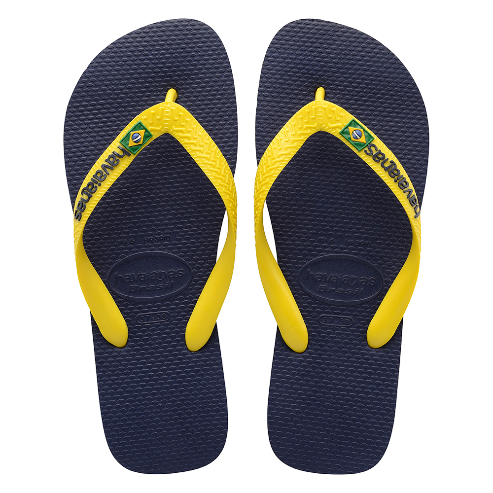 41764744f Havaianas Brazil Logo Sandal Navy Blue Citrus Yellow Price From  NZ 36.78  https