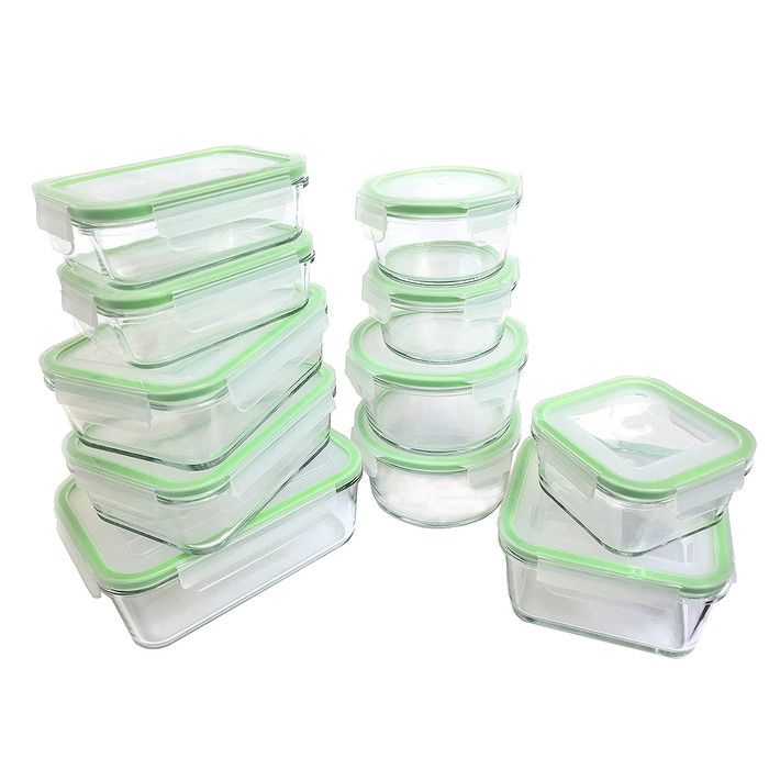 Glassworks Oven Safe 11 Container Food Storage Set Home Stuff