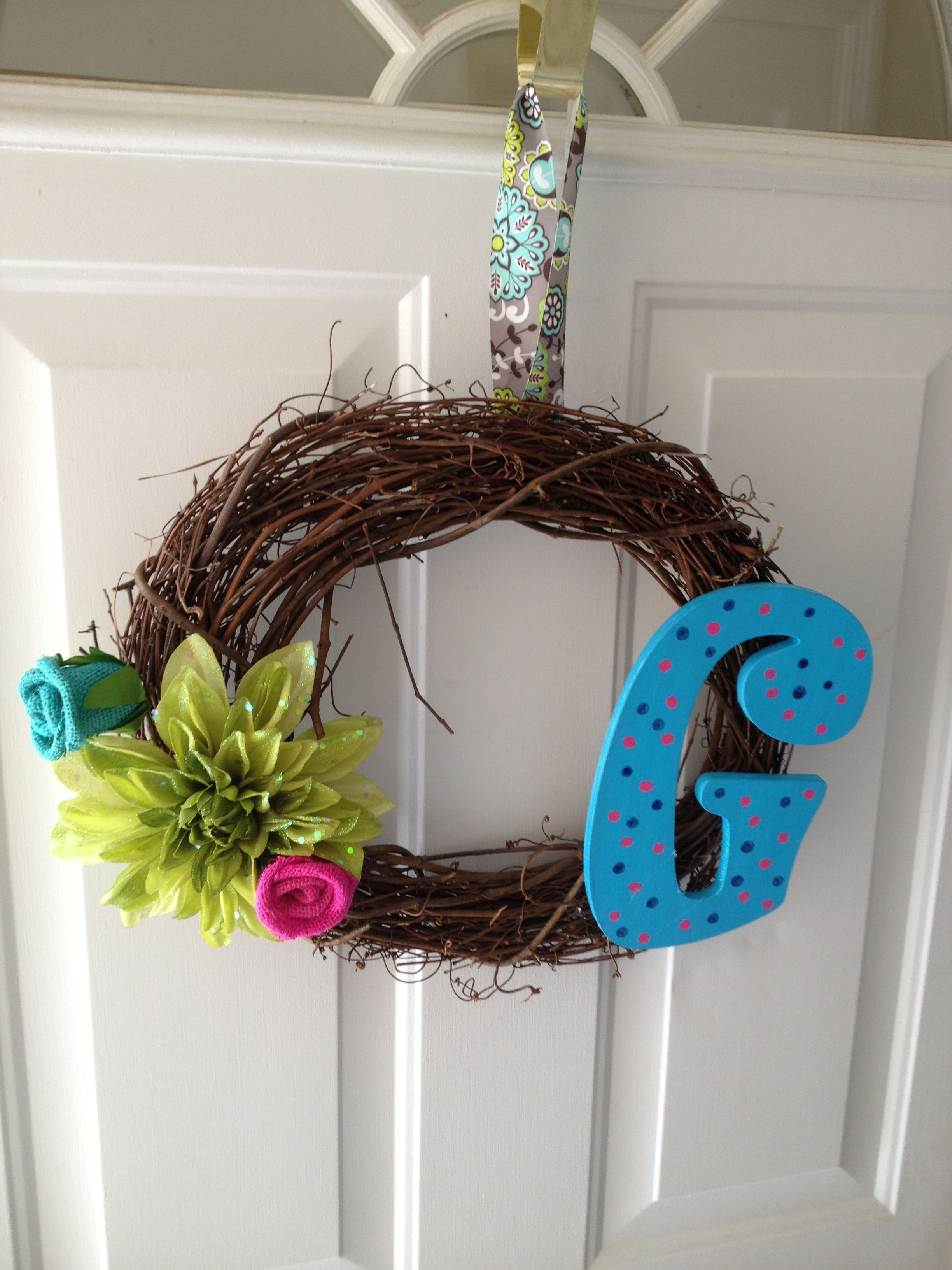 Buy 2 twine wreath from ur local craft store all items