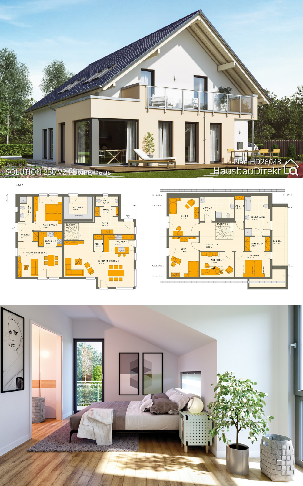 Two Family House Plans Modern with Granny Flat & 5 Bedroom Contemporary European Design Ideas