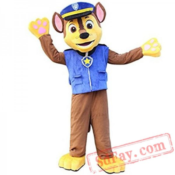 High Quality Paw Patrol Chase Dog Mascot Costume - Paw patrol costume, Mascot costumes, Paw patrol halloween costume, Chase paw patrol costume, Dog costumes halloween large, Mascot -  Color The Same as Picture Specific Color Request Please contact us or Leave it in Order Comments Note Mascot is a Special Order Item, Usually we need 15 days to customize them, Your delivery date should be Processing Days + Shipping Days Later, If you
