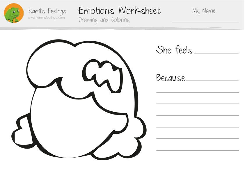 Emotions Worksheets for Children | emotional EDUCATION | Pinterest ...