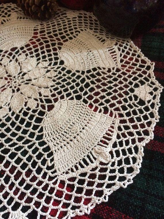 Crochet Doily Christmas Bell Doily Christmas Doily Holiday Decor