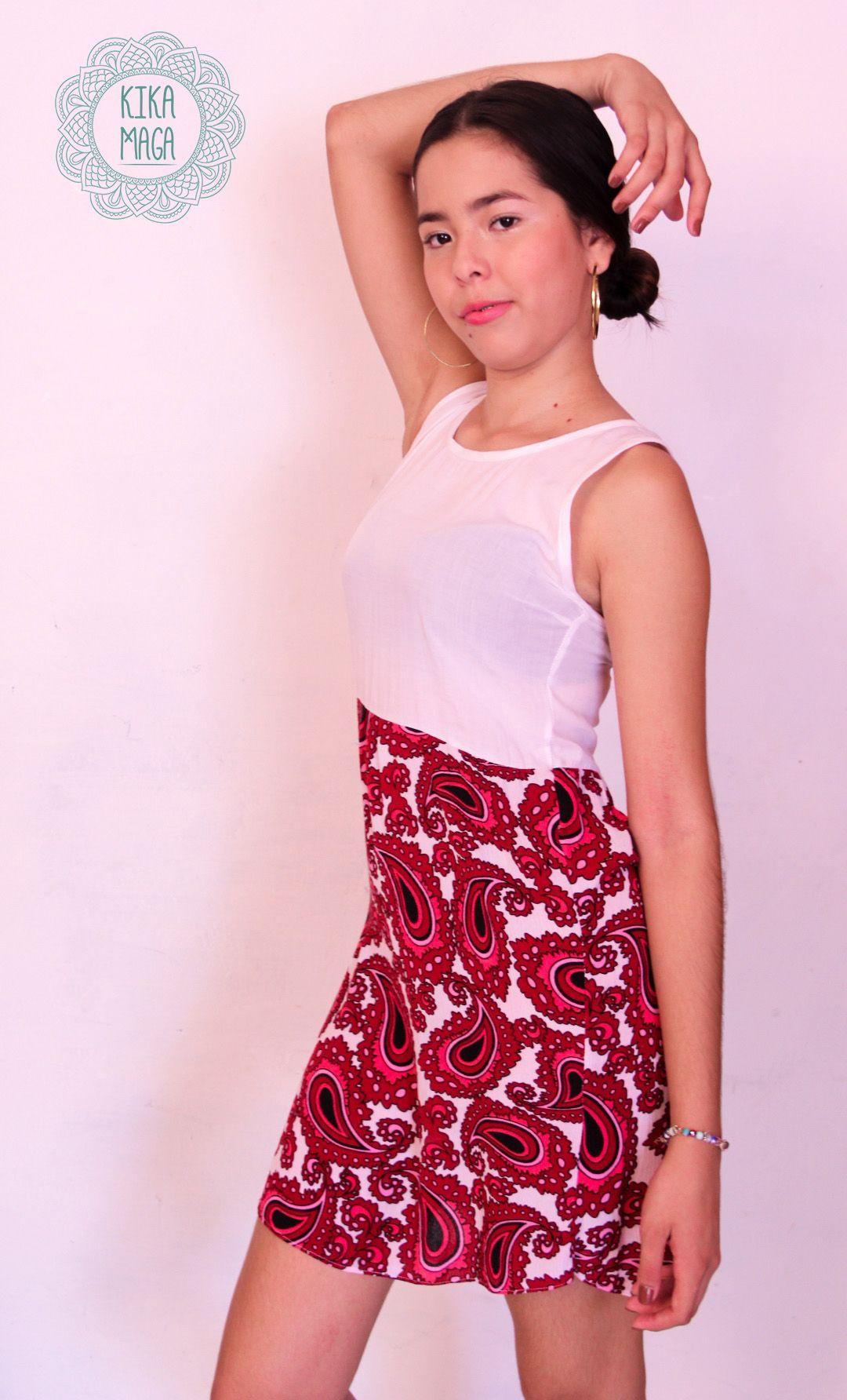 Vestido en tela Hindú. Talla XS #KIKAMAGA Prendas de vestir pensadas ...