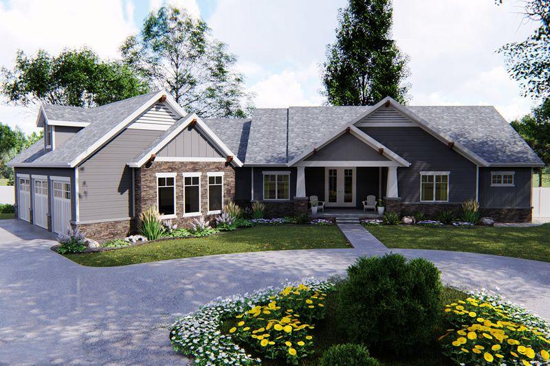 Farmhouse Style House Plan 4 Beds 3 5 Baths 2763 Sq Ft Plan 430 205 Craftsman Style House Plans Craftsman House Craftsman House Plans