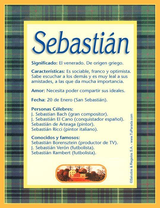 Sebastián Significado Del Nombre Sebastián Nombres Significados De Los Nombres Nombres De Bebes Nombres