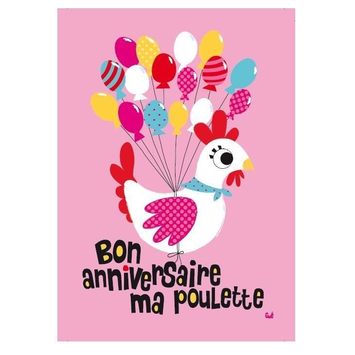 Bon Anniversaire Ma Poulette Carte Pinterest Birthday Quotes