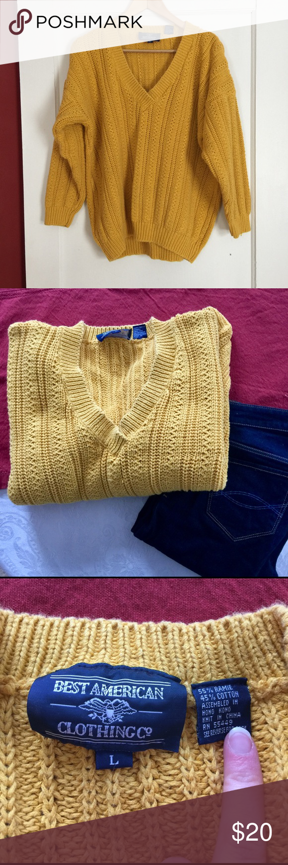 Vintage Yellow Gold Sweater Good vintage condition Vintage ...