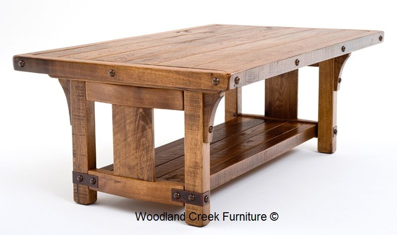 Handcrafted From Sustainable Solid Hardwood Into A Unique Rustic Coffee  Table For Craftsman, Arts U0026 Crafts, Prairie, Mission, Bungalow U0026 Refined  Mountain ...
