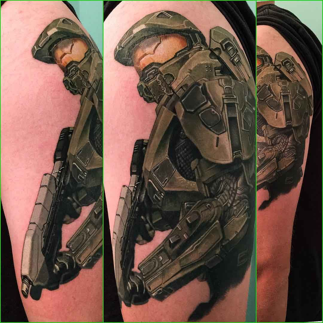 Xbox Tattoo Ideas: Master Chief Tattoo