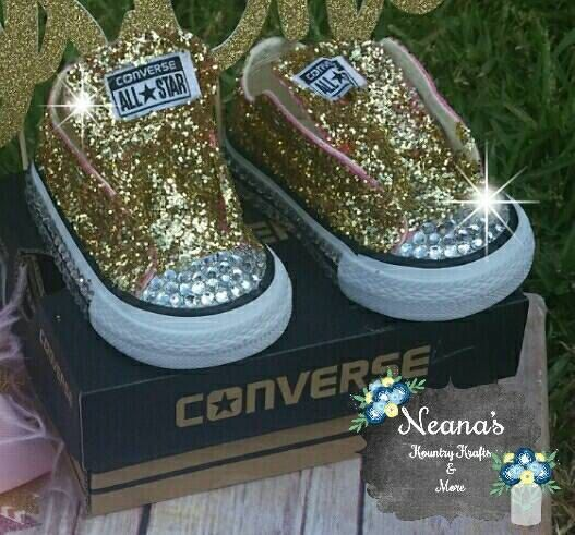90cfbcc7ae6 Bedazzled blind converse glitter by KountryKraftsandMore on Etsy ...