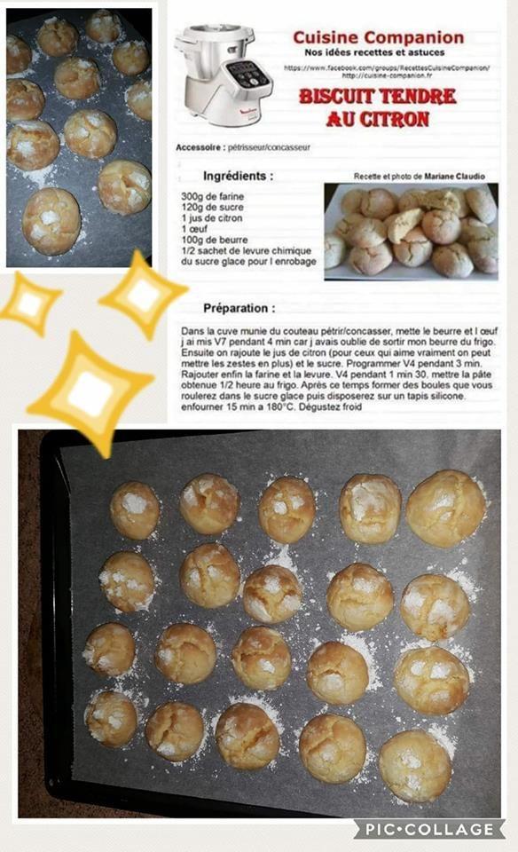 biscuit tendre au citron | Recette, Recette companion ...