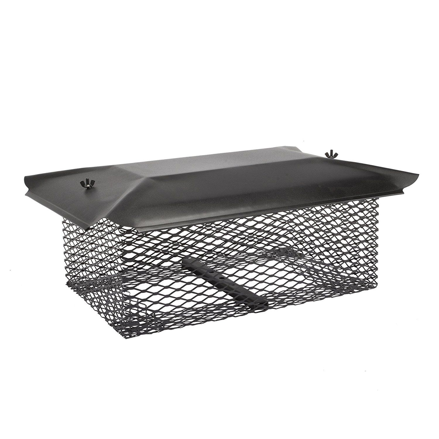 Universal Covers U1313b58 Universal Chimney Cover With 5 8 Black Galvanized Steel Mesh 13 X 13 Click Image For Mo Chimney Cap Galvanized Steel Galvanized