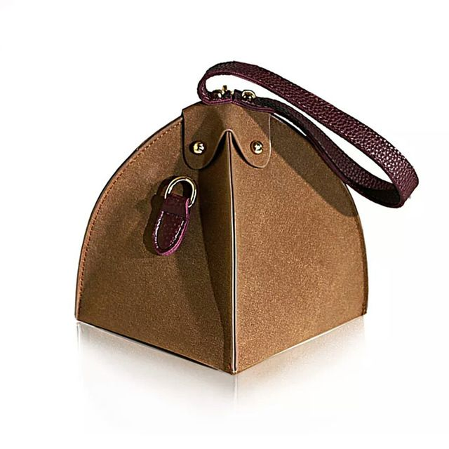 small triangle bag clutch leather bag designer purse famous brand ...