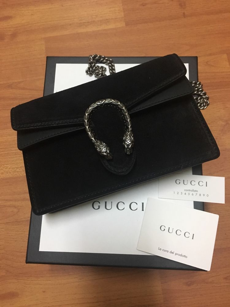 926f87ecac530 GUCCI Dionysus Black Suede Super Mini Chain bag New with gift box and dust  bag!  fashion  clothing  shoes  accessories  womensbagshandbags ...