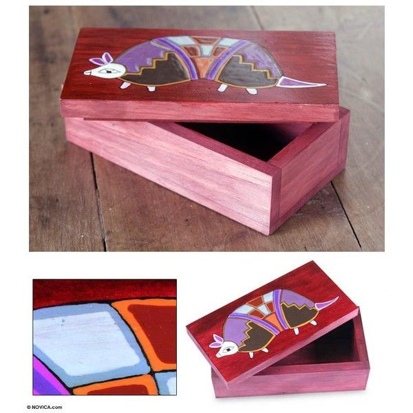 NOVICA Pinewood box ($48) ❤ liked on Polyvore featuring home, home decor, small item storage, decorative boxes, home accessories, red, colored boxes, novica, red box and handmade boxes