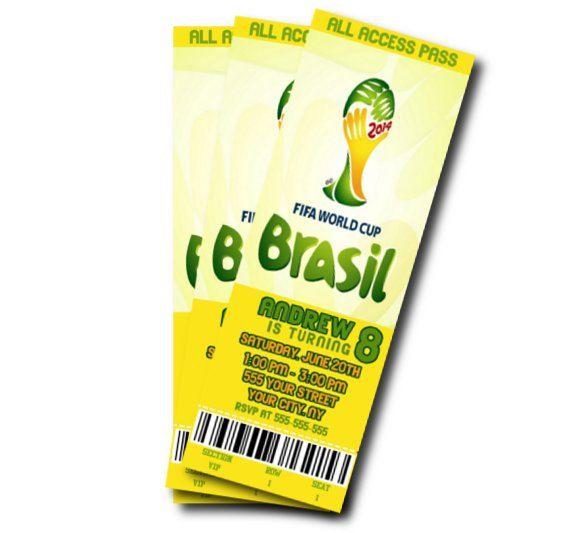 world cup birthday invitation brasil theme by sweetdigitalcreation