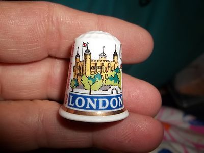 Vintage Tower of London Collectible Lambert Souvenir Thimble Bone China England | eBay