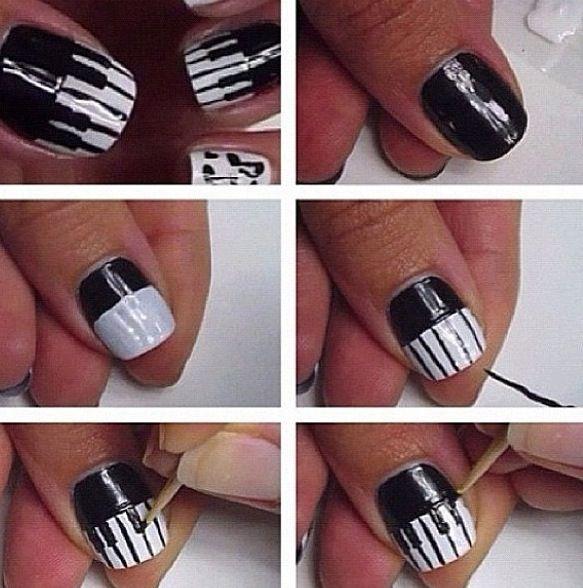 Piano Nails Tutorial Music