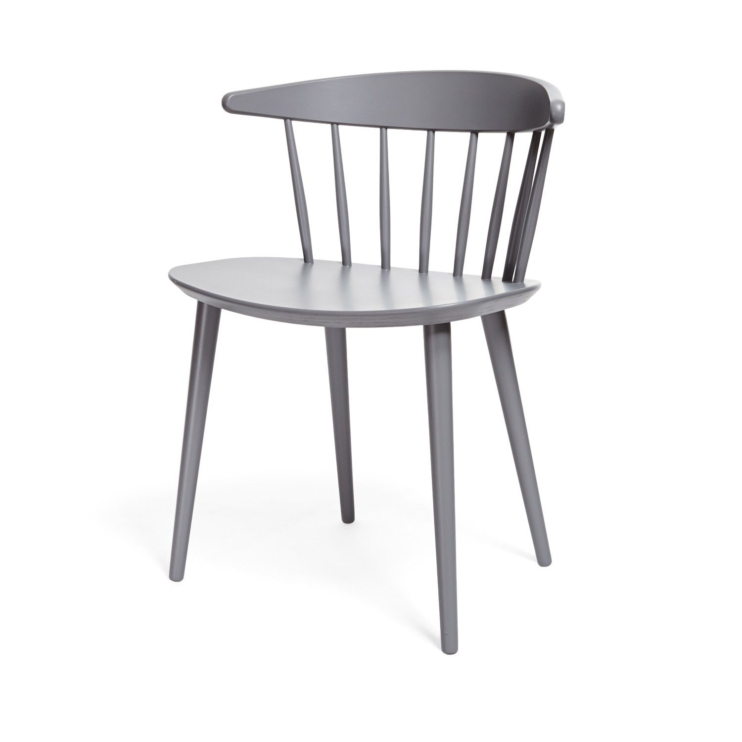 The Slat Back Chair Is Reimagined In A High Gloss Finish. Its Low Back