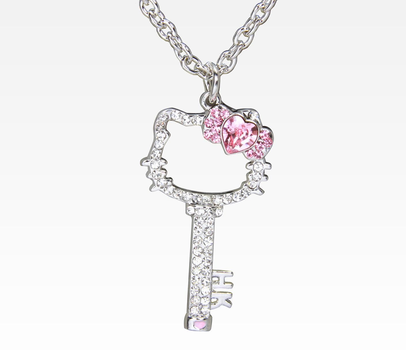 Hello kitty key necklace httpsanrio jewelry shop hello kitty necklaces and pendants on sanrio mozeypictures Image collections
