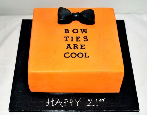 Bow Ties Are Cool 21st Cake 21st cake and Cake