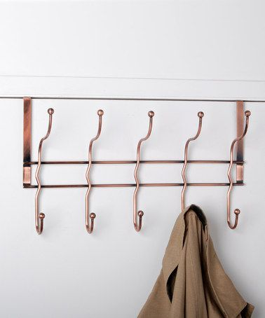High Quality Take A Look At This Antiqued Copper Over Door Hook Rack By Design Products  On