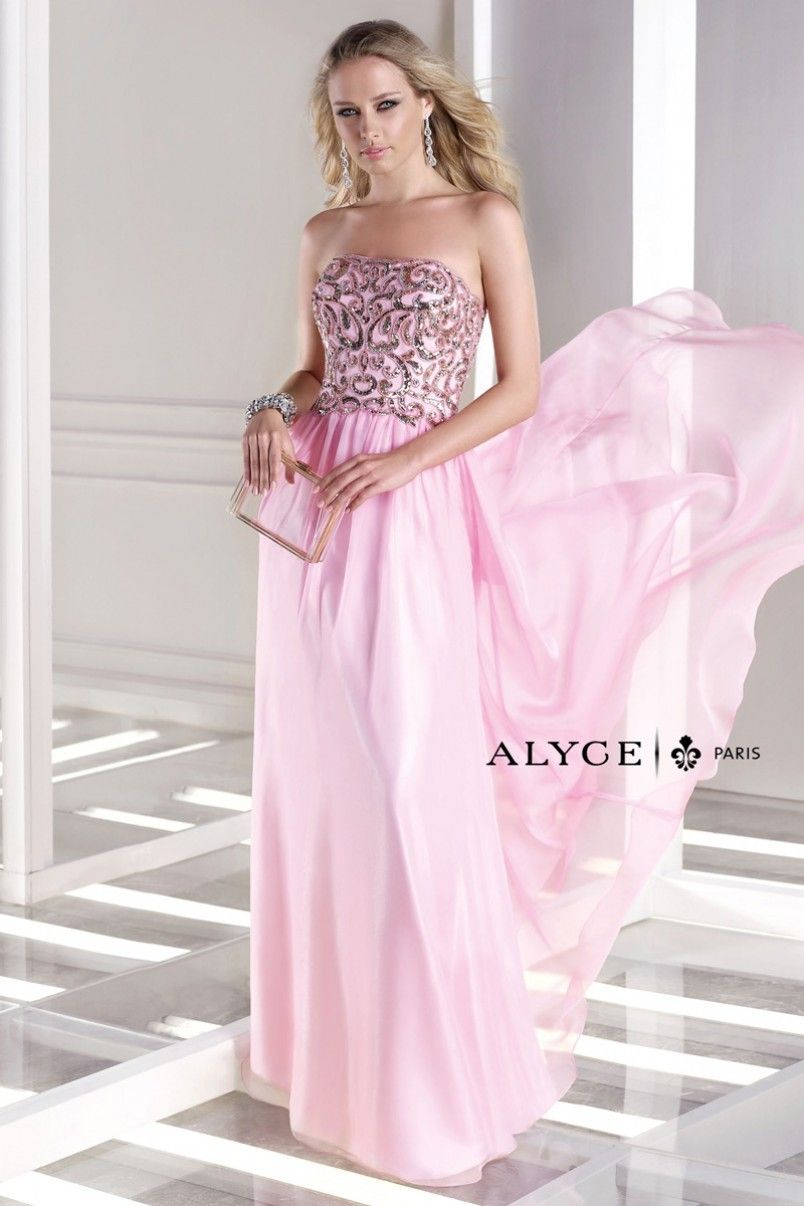 Alyce paris bdazzle dress style strapless long gown