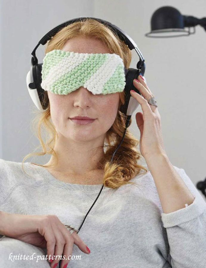 Eye Mask Knitting Pattern Free Free Knitting Patterns