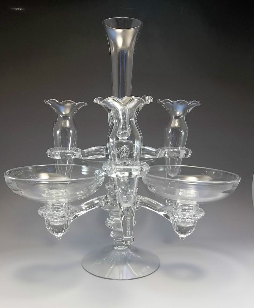 Gorgeous cambridge arms clear glass bud vase 1940s epergne bowls gorgeous cambridge arms clear glass bud vase 1940s epergne bowls candle holder reviewsmspy