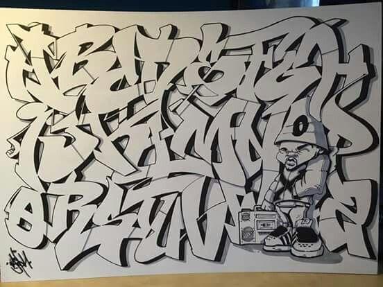 A b c d e f g h i j k l m n o p q r s t u v w x y z - Letter a graffiti style ...